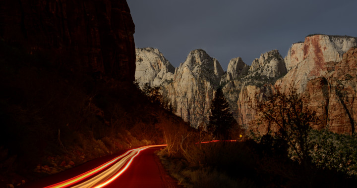 Zion at night by Tim Cooper