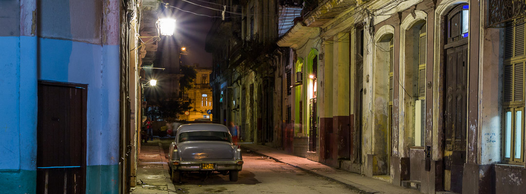 night photography in Cuba